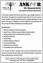 Daycare & Counselling Centre,  Karve nagar,  pune