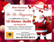 Christmas events in Pune @ 121 Kitchen : BarBQ,  Wakad