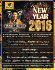 New Year party in Pune @121 Kitchen : BarBQ,  Wakad