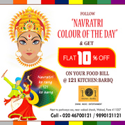 Navratri Food Offers by 121 Kitchen : BarBQ - Wakad,  Pune