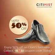 Get upto 50% off on Clark's footwear