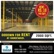 2000sqft Godown for Rent in Handewadi