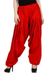 Plain Pure Cotton Patiala Pants at ShoppyZip