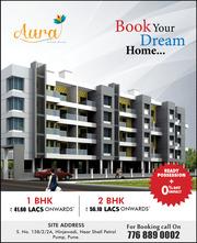 2 BHK ready flats  Flats At Aura,  Hinjewadi,  Pune
