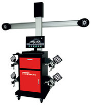 3D wheel alignment setup