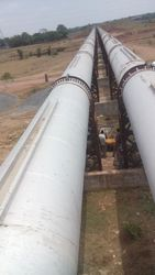 Engineering works , Steel pipes aqueduct ,  Mild Pipes ,  Expansion join