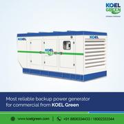 Backup power generator for commercial & Residential from KOEL Green
