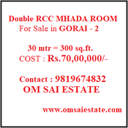600 sq.ft. Double RCC MHADA Row House for Sale