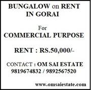 850 sq.ft. Bungalow for Rent in Gorai-2 Borivali West