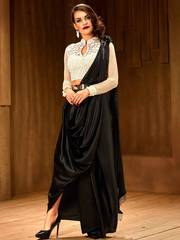 Buy Black colour sarees online from Mirraw