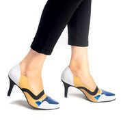Buy Artemis Blue,  Grey And Black Court Heels for Women at PAIO Shoes