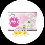 Buy Jasmine Fragrant Soap for All Day Freshness - Godrej No.1