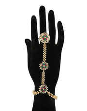 Buy Bridal Hath Phool & Hand Bracelet With Chain Online at Anuradha