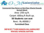 250 sqft office on rent in Borivali west