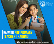 BA with pre primary teacher training