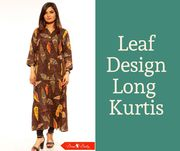 Leaf Design Long Kurtis