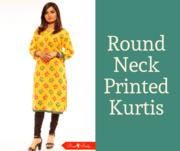 Round Neck Printed Kurtis