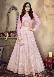 Light Pink Heavy Embroidered Lehenga