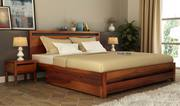 Get up to 55% on double beds online in Mumbai at Wooden Street