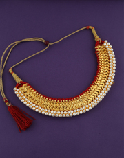 Buy traditional kolhapuri saaj at best price by Anuradha Art Jewellery