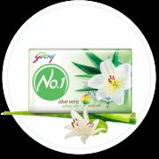 Godrej No1 - Aloe Vera & White Lily - Best Moisturizing Soap for skin.