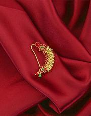 Buy now Maharashtrian Bridal Nath Design by Anuradha Art Jewellery