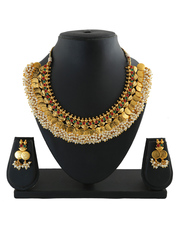 Shop for Laxmi haar and coin necklace at best price.