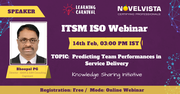 FREE ITSM Webinar on Predicting Team Performance in Service Delivery