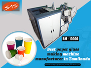 Best Paper Glass Making Machine Manufacturer in Tamilnadu