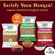 Buy Best Quality Organic Grains & Millet Online