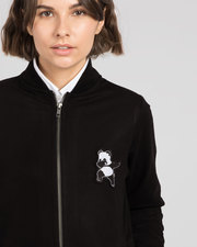 Buy Dab Panda Badge Bomber Jacket For Women Online