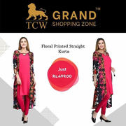 Grand Shopping Zone Women Floral Printed Straight Kurta