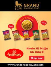 Grand Shopping Zone Snacks   Haldiram's Bhujia - 1 Kg
