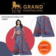 Grand Shopping Zone Women Embroidered Saree