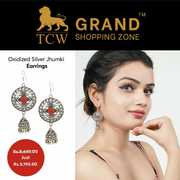 Grand Shopping Zone Jewellery | Silver Ghungroo Jhumki Earrings