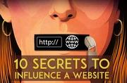 10 SECRETS TO INFLUENCE A WEBSITE