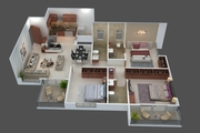 Spacious 3 BHK flats for sale in Punawale at Infinity World