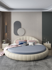 High quality bedroom furniture French upholstered latest double bed