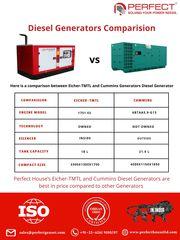 Eicher-TMTL vs Cummins Generators Diesel