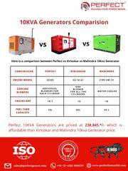 10KVA Generators' Comparison: Perfect Vs. Kirloskar Vs. Mahindra