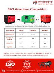 5KVA Generators' Comparison: Perfect Vs. Kirloskar Vs. Mahindra